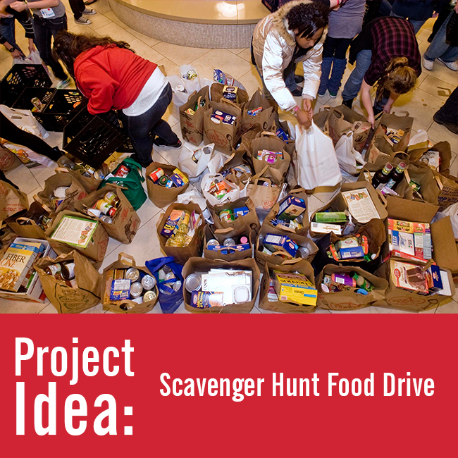 Youth Volunteer Project Idea: Scavenger Hunt Food Drive