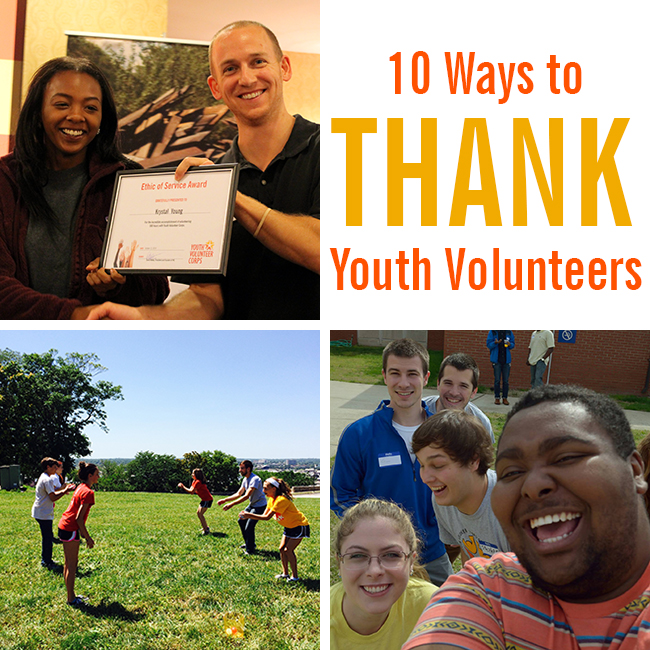 10 Ways to Thank Youth Volunteers