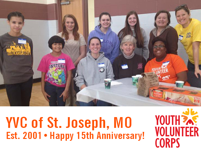 Happy 15th Anniversary to YVC of St. Joseph, MO!
