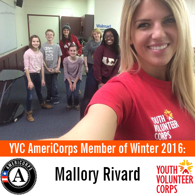 Meet Mallory: YVC AmeriCorps Member of Winter 2016