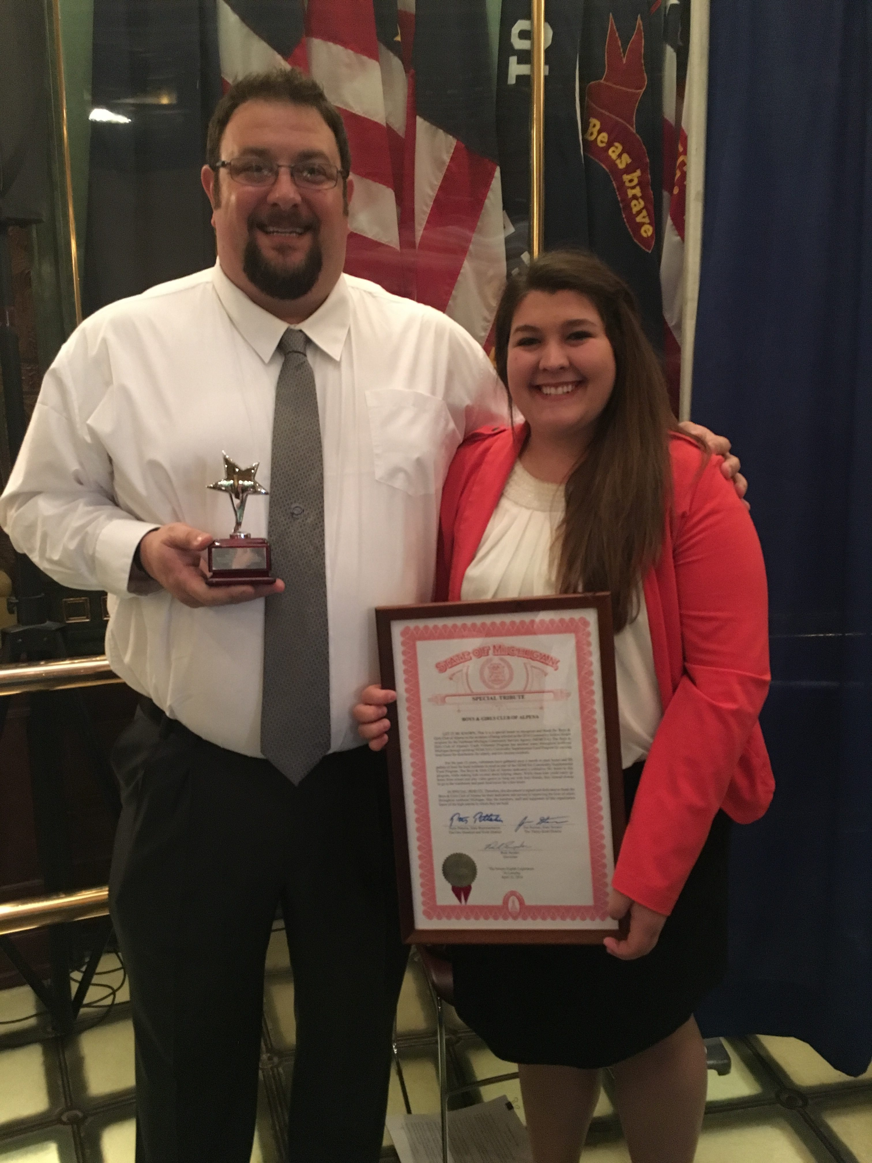 YVC of Alpena Honored by State of Michigan