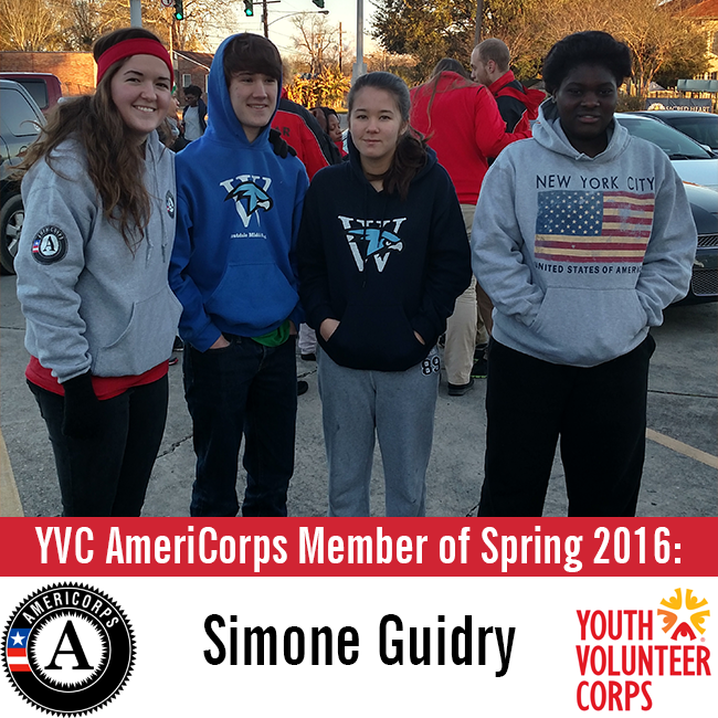 Meet Simone: YVC AmeriCorps Member of Spring 2016