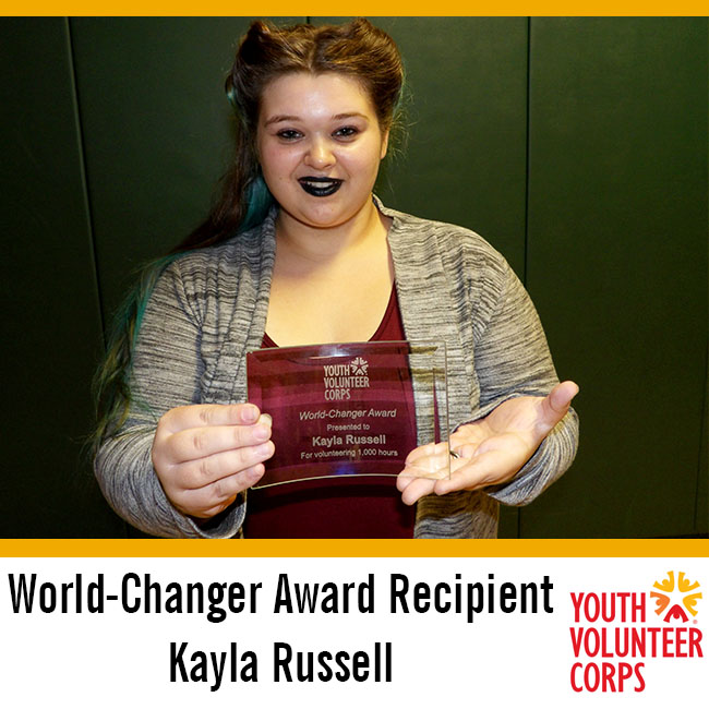 2016 YVC World-Changer Award Recipient: Kayla Russell
