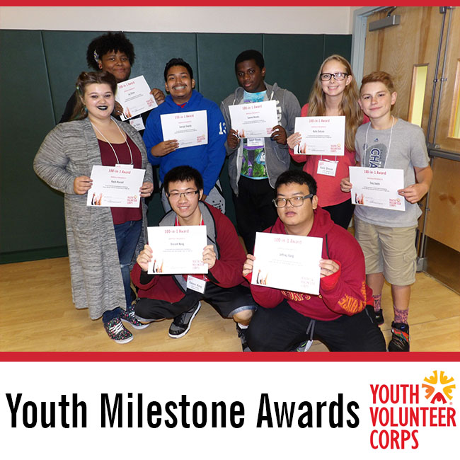 Congratulations to 299 Youth Milestone Award Recipients
