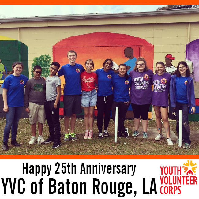 Happy 25th Anniversary to YVC of Baton Rouge, LA!