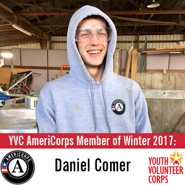 Meet Daniel: YVC AmeriCorps Member of Winter 2017