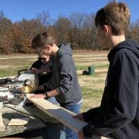 Building Bat Houses at Wildcat Glades Conservation Center