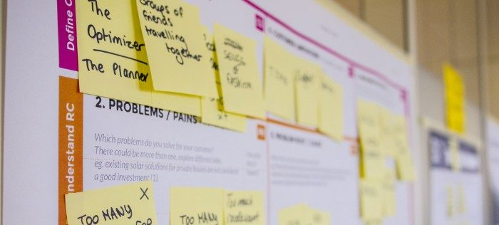 Image of post it notes for planning work